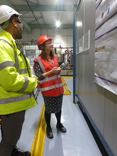 Workington MP Sue Hayman visiting the Centre for Innovative Nuclear Decommissioning at NNL's Workington facility