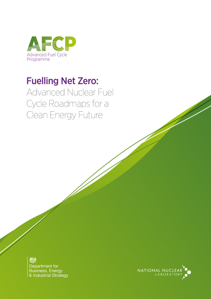 Front cover of AFCP's new report, Fuelling Net Zero: Advanced Nuclear Fuel Cycle Roadmaps for a Clean Energy Future